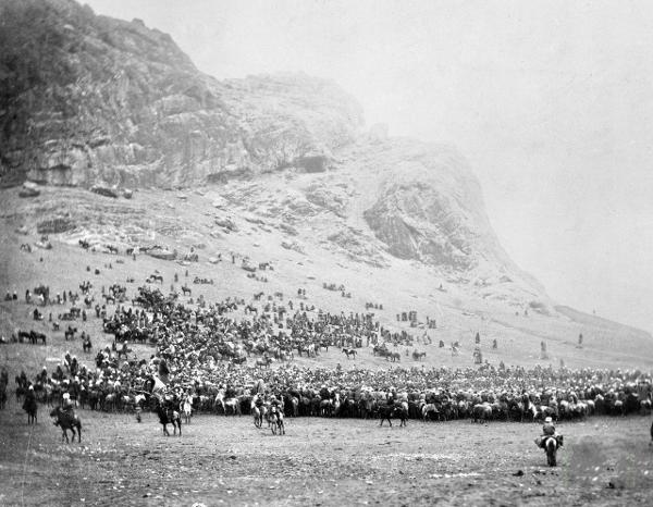 Конноспортивные состязания у подножия горы Сулейман-Тоо. Город Ош. 1890