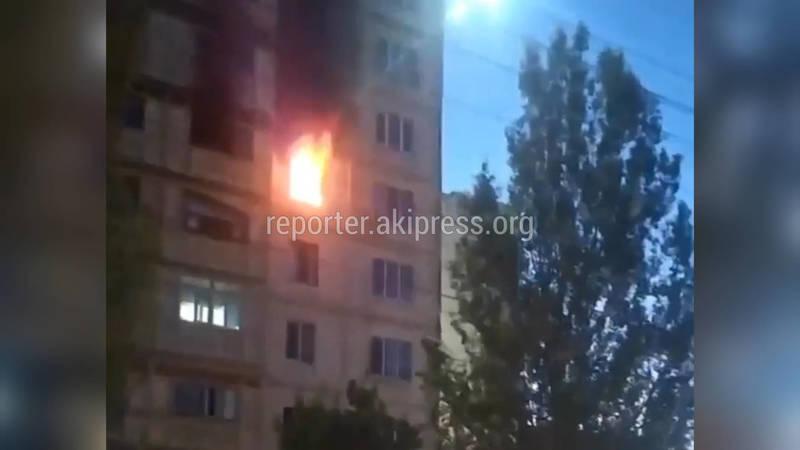 Пожар в Джале. Пожарная машина не смогла добраться до огня. Видео