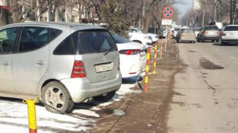 Законно ли установили парковочные барьеры на улице Панфилова? Фото