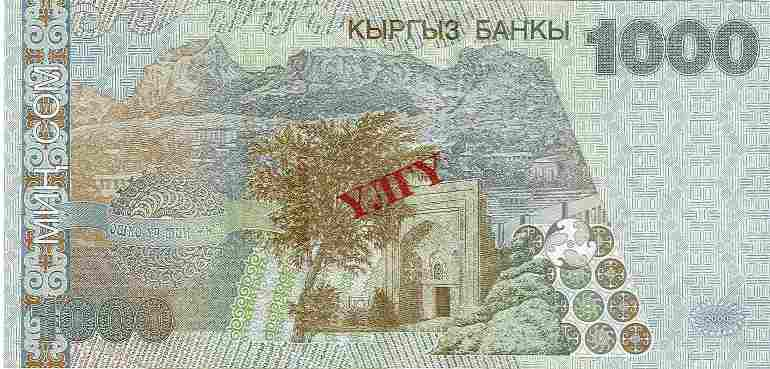 Валюта Кыргызстана - банкнота номиналом 1000 сомов образца 2000 года. АКИpress