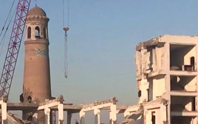 uzbek minaret