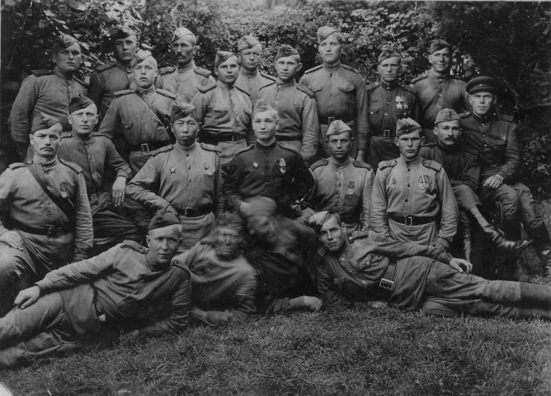 Взвод советских солдат, Германия, 1945 год