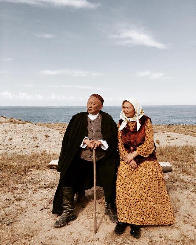 Саякбай с женой