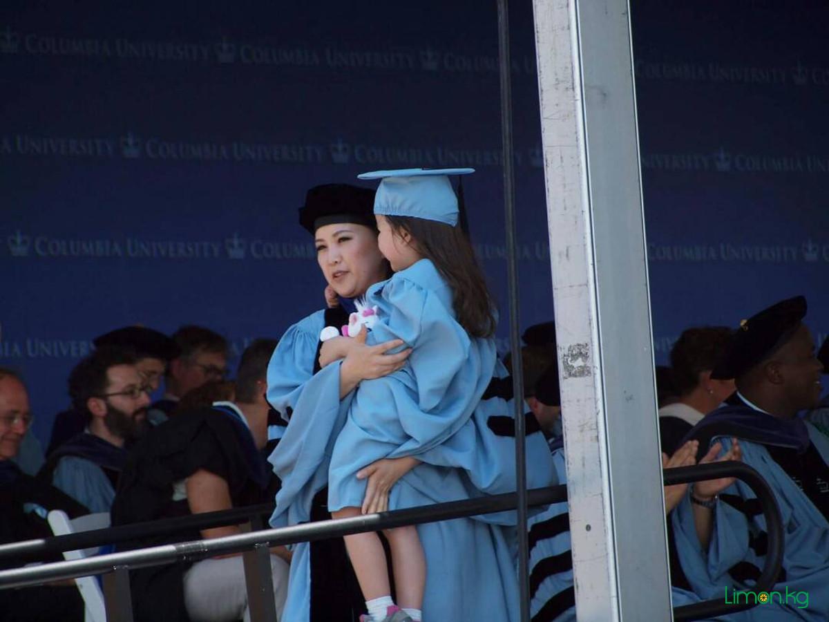 с дочерью на выпускном