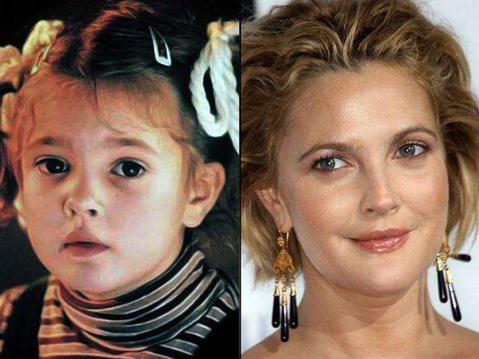 Детские и взрослые фотографии знаменитостей