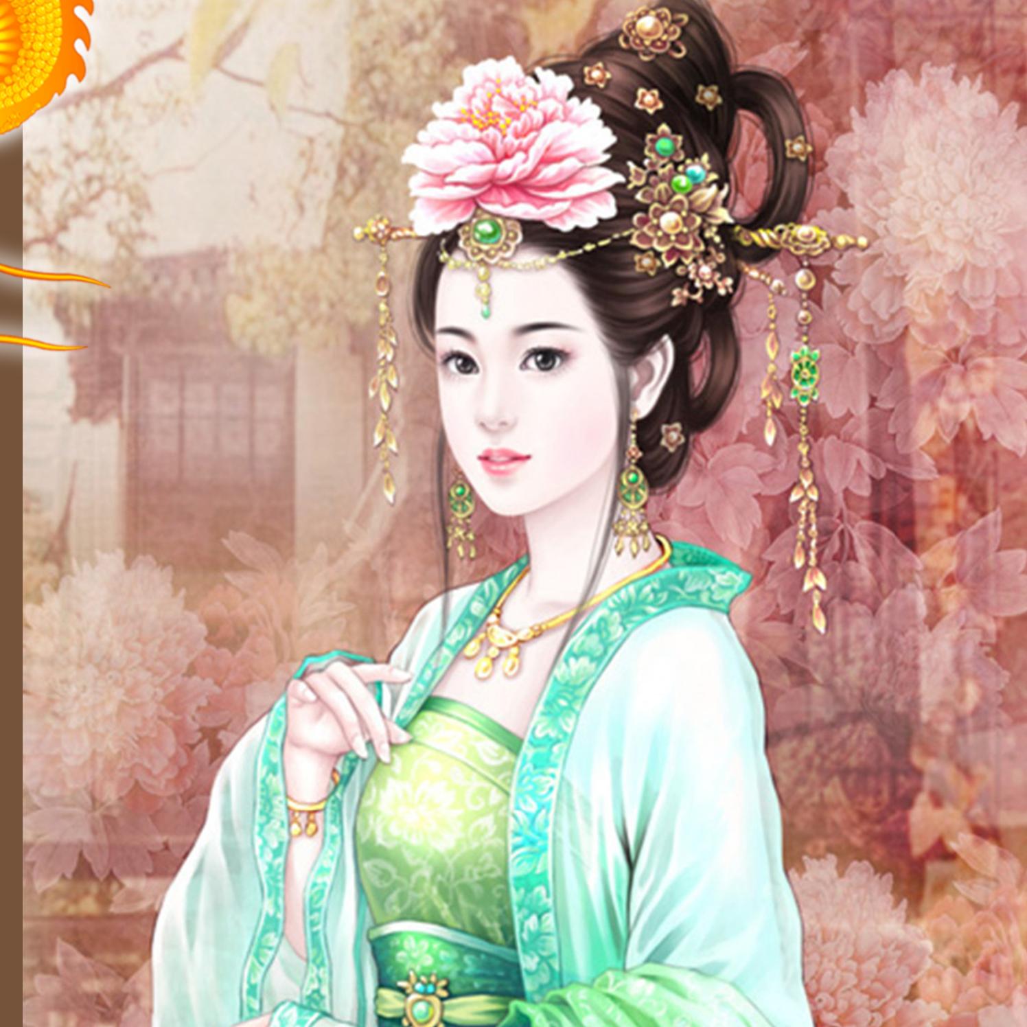 Китайские рисунки девушек