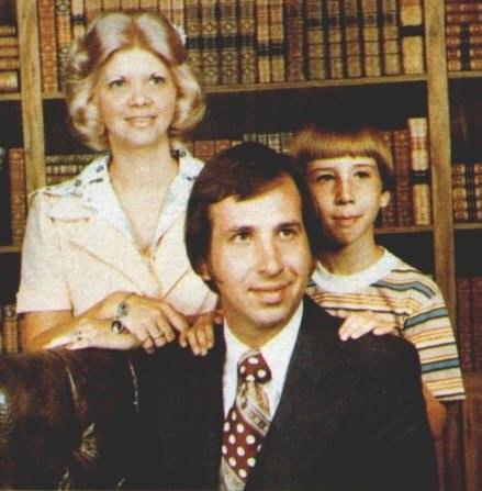 Мэрилин Мэнсон с семьей, 1975 год.