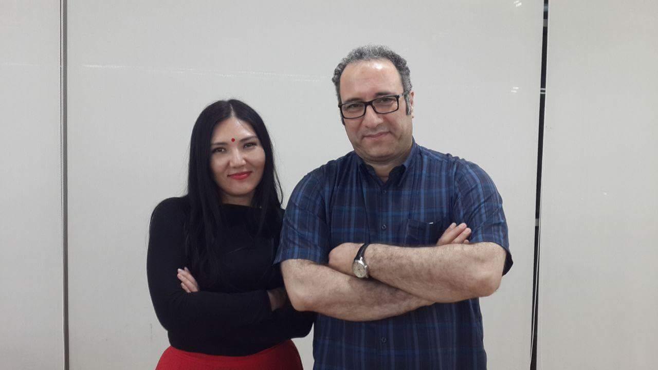 С директором МКФ Fajr - Реза Миркарими