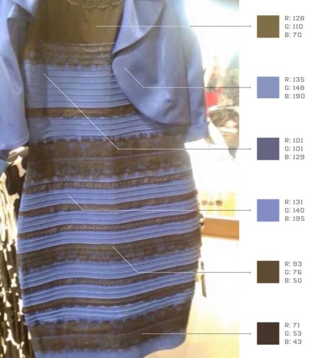 Цвет платья объяснение