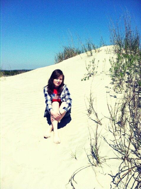 На пляже Атлантического Океана