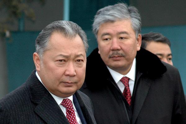 Курманбек Бакиев и Данияр Усенов