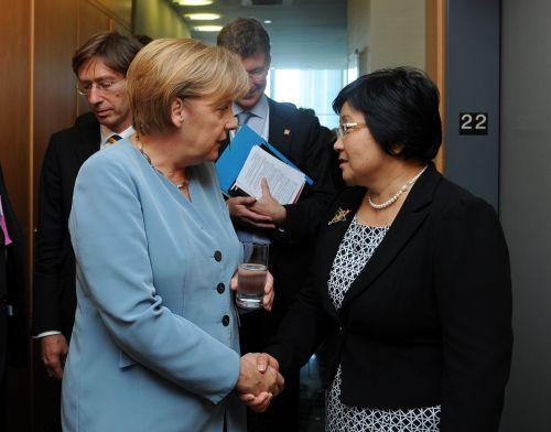 С Ангелой Меркель Сентябрь  2010 г