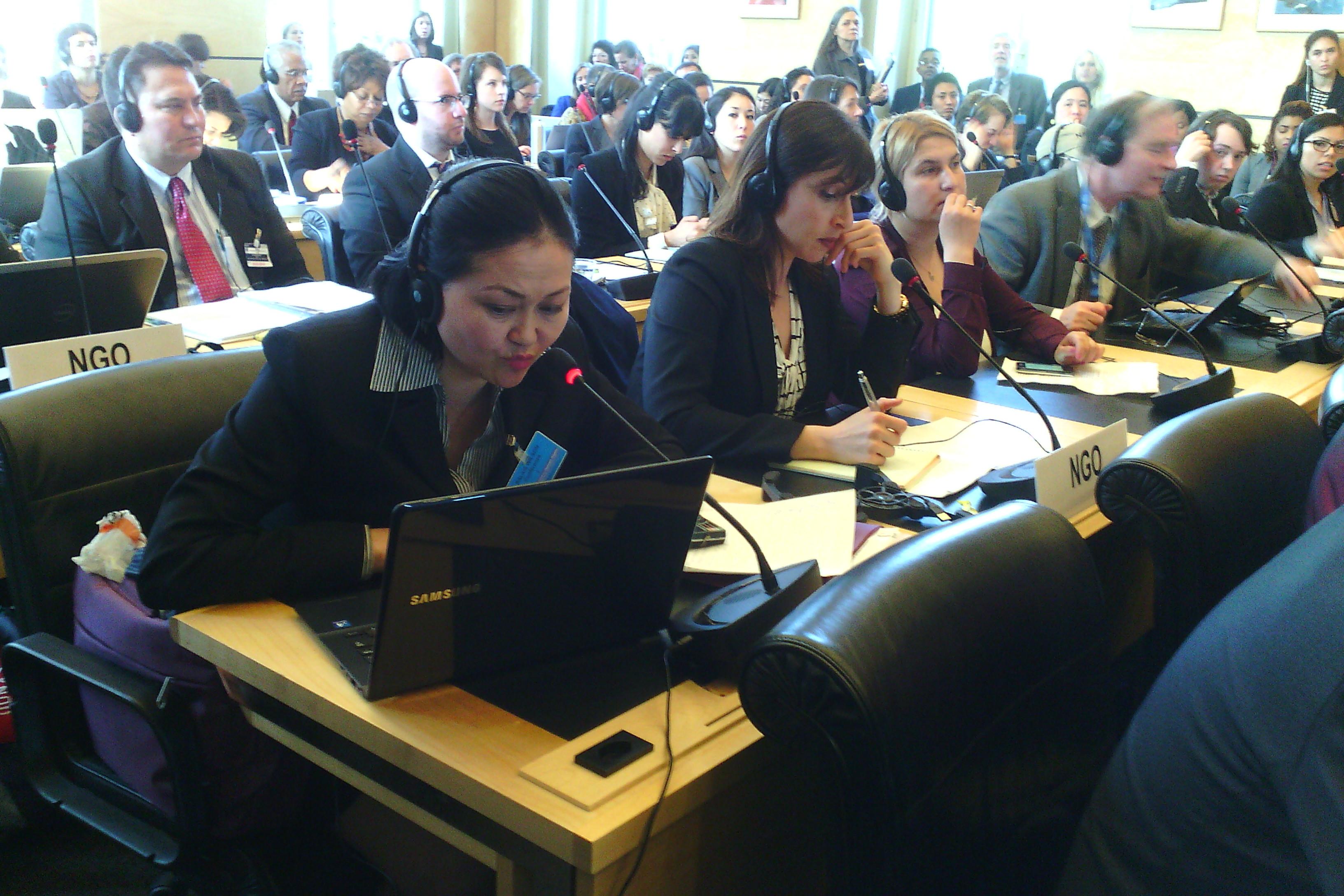Выступление с альтернативным отчетом  в Комитете ООН по правам человека 2014 год