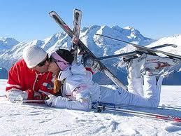 лыжники_целуются