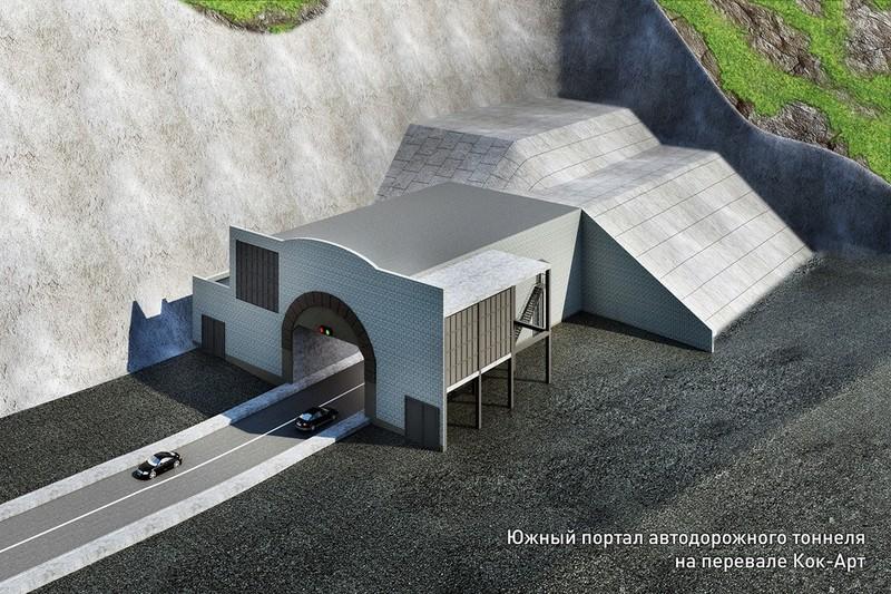 На сегодня тоннель через перевал Кок-Арт, который должен был быть построен в 2018 году, завершен на 30%