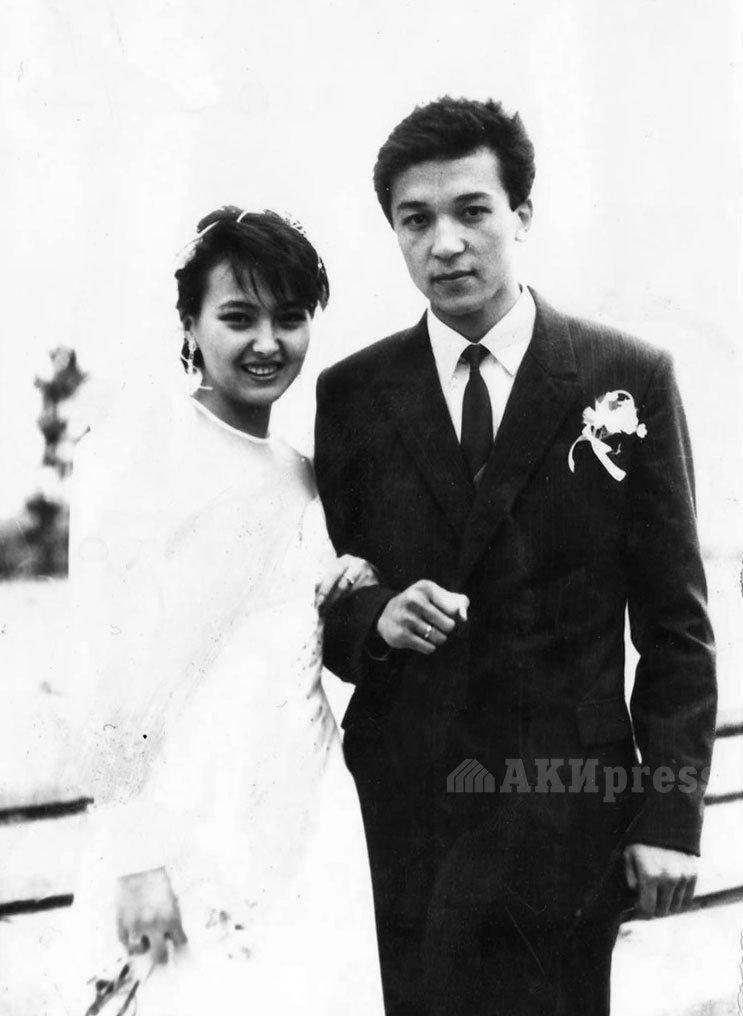 Аалы Карашев с супругой. 1990 год