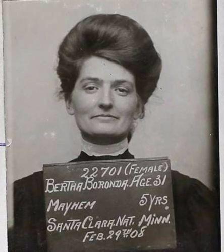 Берта Боронда - 5 лет тюрьмы за то, что отрезала половой орган своему мужу за измену. США, 1907 г.