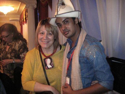 После показа г. Тараз с известным индусским дизайнером