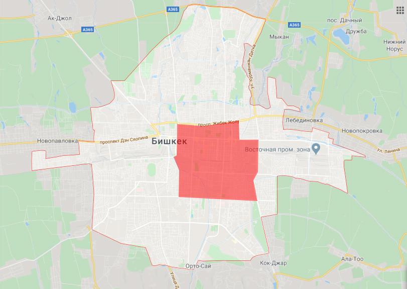 Карантинная зона в Бишкеке