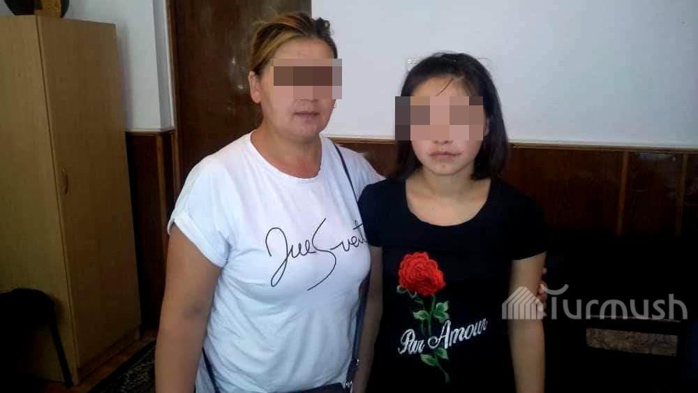 Нурдана Райымжанова с мамой