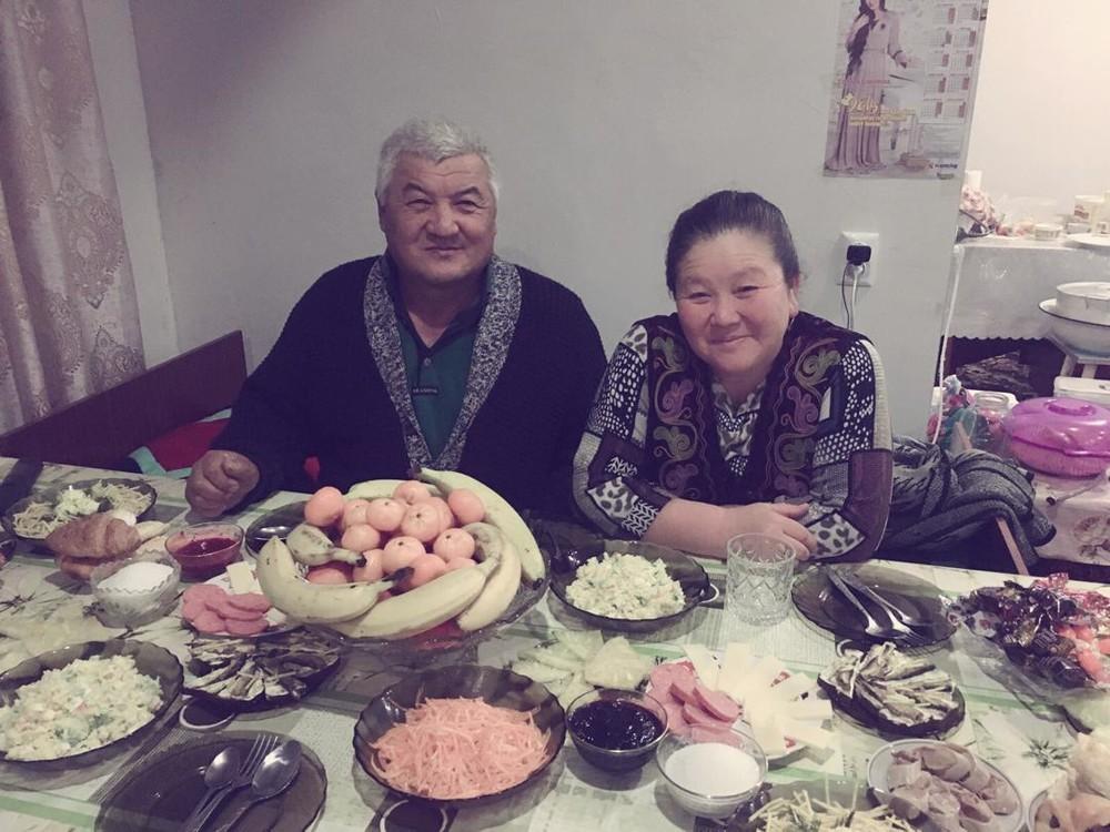 Гүлкайыр Иманбаева  с мужем