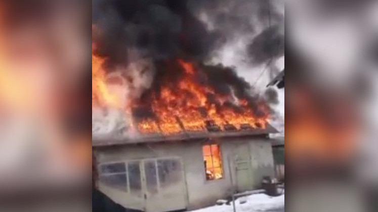 Пожар в селе Таш-Дөбө