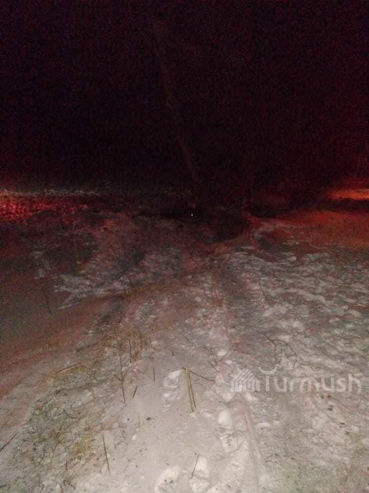 Участок дороги, где предположительно произошло ДТП