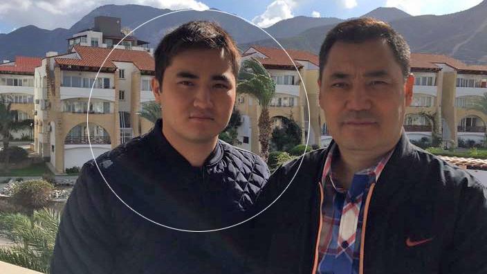Садыр Жапаров со своим сыном Дастаном