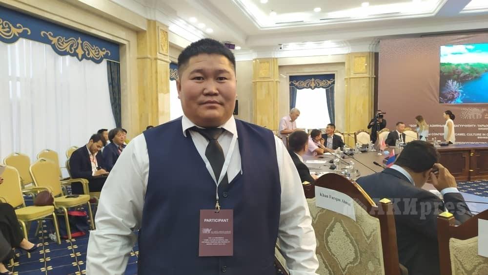 Менеджер Союза верблюдоводов Монголии Нарантуя Арунсана