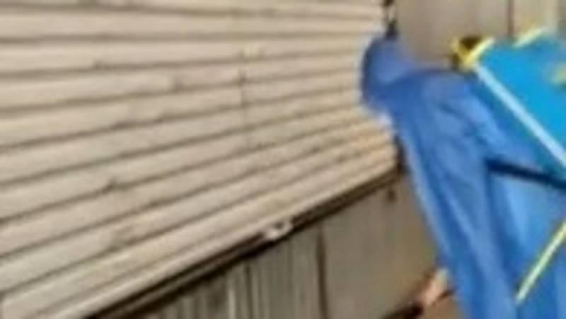 Как проводят дезинфекцию центрального рынка города Кант. Видео