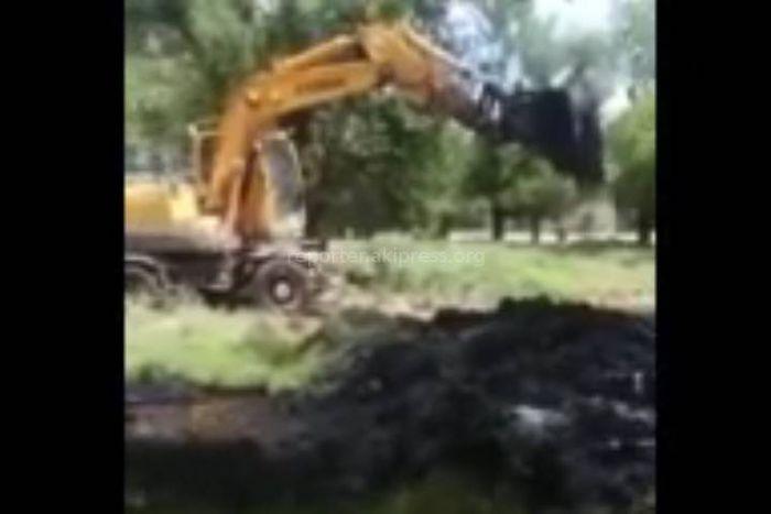 Отходы завода по первичной обработке шерсти в Токмоке выливают на почву <i>(видео)</i>