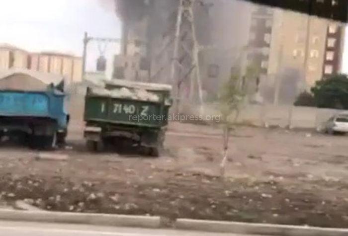 В мкр Джал горит подстанция <i>(видео)</i>