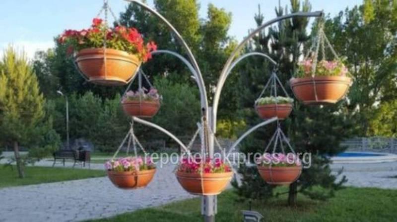 Мэрия: Демонтированные горшки для цветов на Жибек Жолу будут использоваться в благоустройстве новых зеленых зон