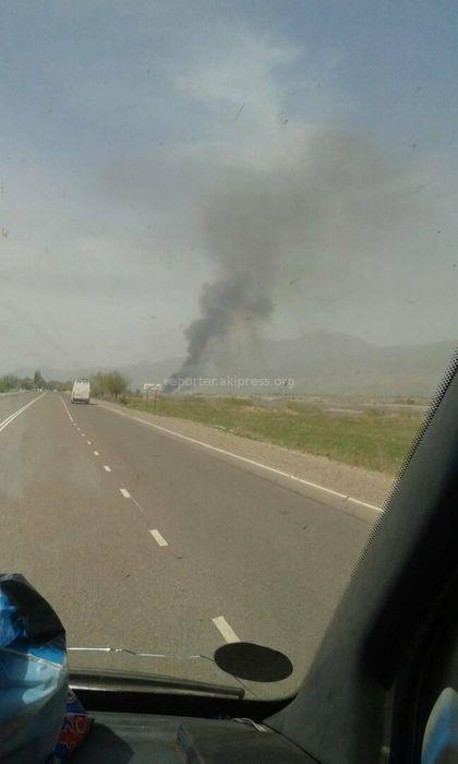 Очевидец интересуется, нет ли пострадавших при пожаре в селе Ак-Бекет (фото)