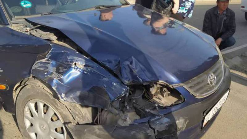 В Бишкеке на ул.Кайназарова произошло ДТП, - очевидец. Фото