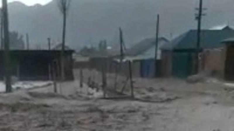 Селевые потоки в Нарынской области. Видео местных жителей