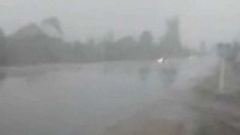 Сильный дождь в селе Сары-Ой. Видео местного жителя
