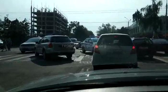 Видео ДТП с участием служебной машины УОБДД