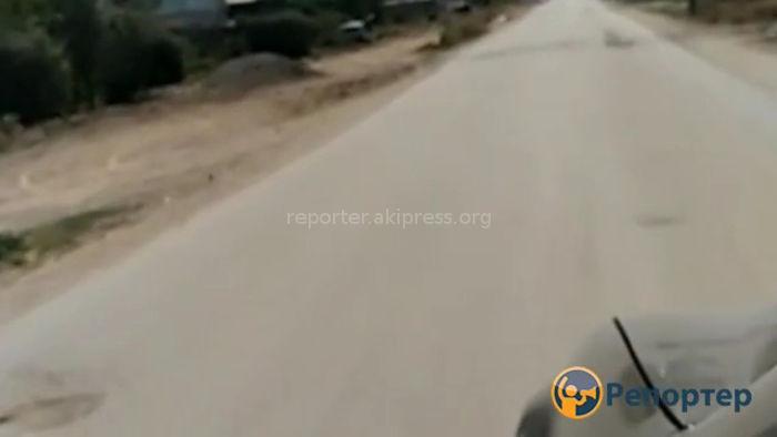 В жилмассиве Кара-Жыгач при проведении газопровода испортили асфальтовое покрытие дороги