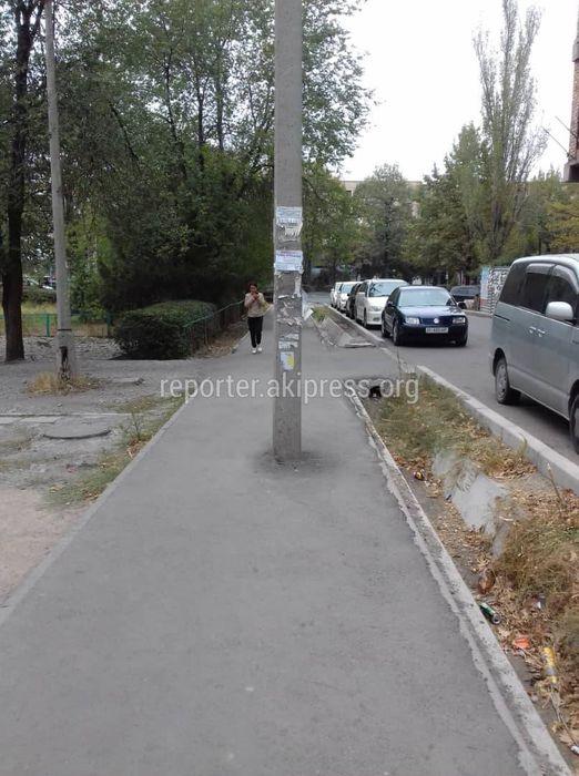 Бригада «Бишкексвета» убрала свисающие провода со столба в мкр Восток-5 (фото)