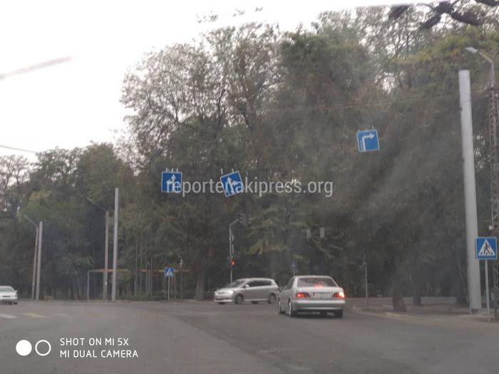 Дорожный знак на Московской-Фучика до сих пор не исправили (фото)