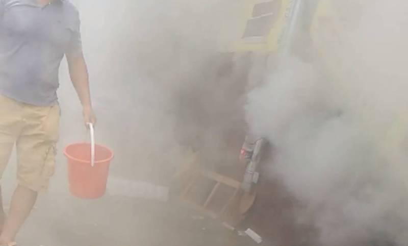 В торговом центре «Таатан» произошел пожар, на месте работали два пожарных расчета (видео)