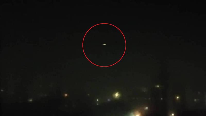 Бишкекчанин видел странное свечение в небе. Фото