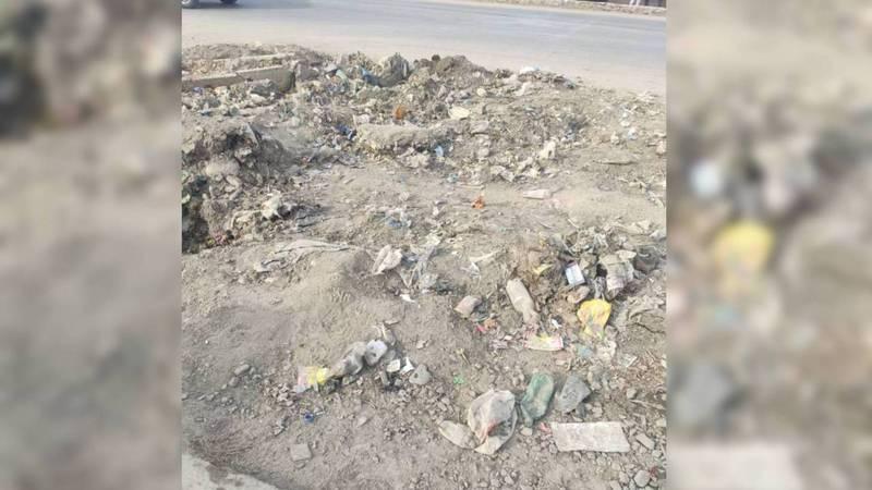 На центральной улице Кочкора уже 4 месяца лежит мусор после ремонтных работ каналов, - жители