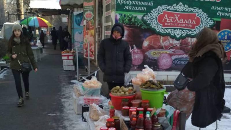 На улице Московской развивается уличная торговля. Фото