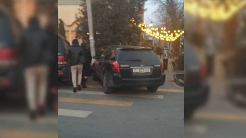 На улице Медерова водитель легковушки припарковался на «зебре». Фото