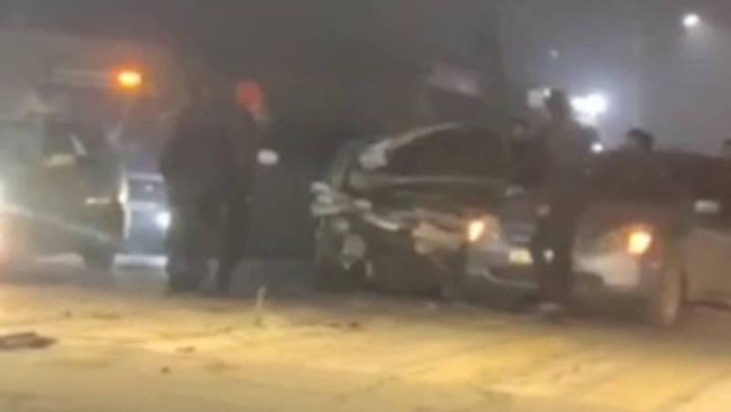 В Новопавловке ночью произошло ДТП с участием четырех машин. Видео, фото