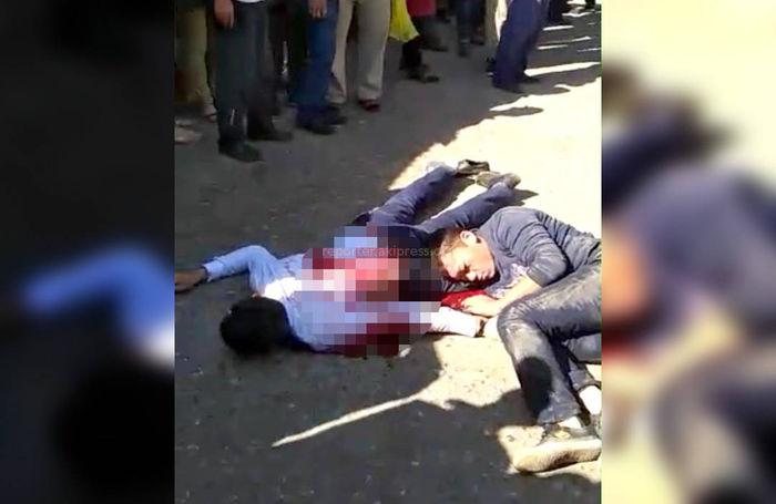 <b>Видео</b> — На автовокзале в Базар-Коргоне прилюдно убили парня. Подозреваемый задержан
