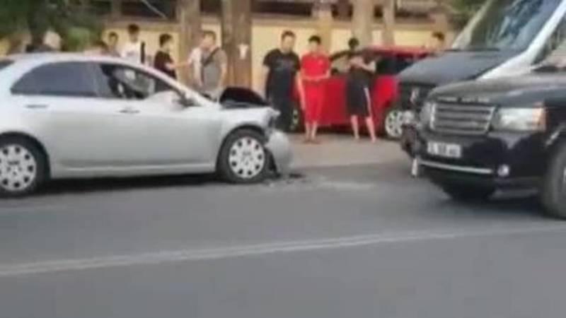 ДТП на ул.Юнусалиева. «Хонда» выехала на встречку. Видео с места аварии