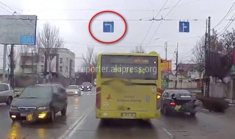 Бишкекчанин интересуется, законно ли в городе установлены дорожные знаки «Поворот налево»?